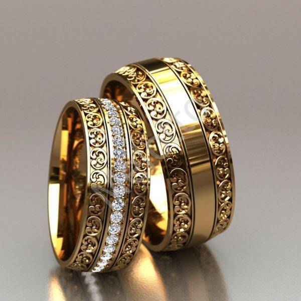 Комплект из помолвочного и обручального кольца