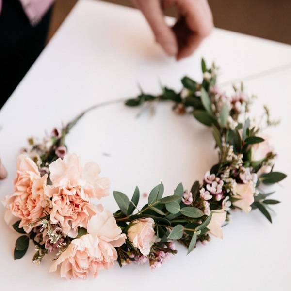 Свадебные венки своими руками – фото и видеоуроки