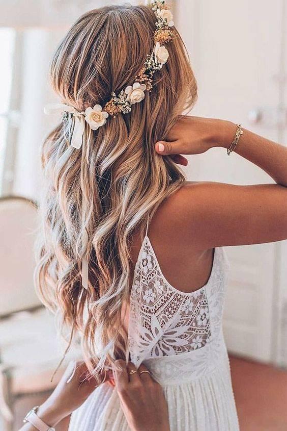 Прически на свадьбу для длинных волос