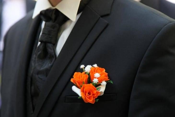 Бутоньерка для жениха своими руками: подробная инструкция с фото