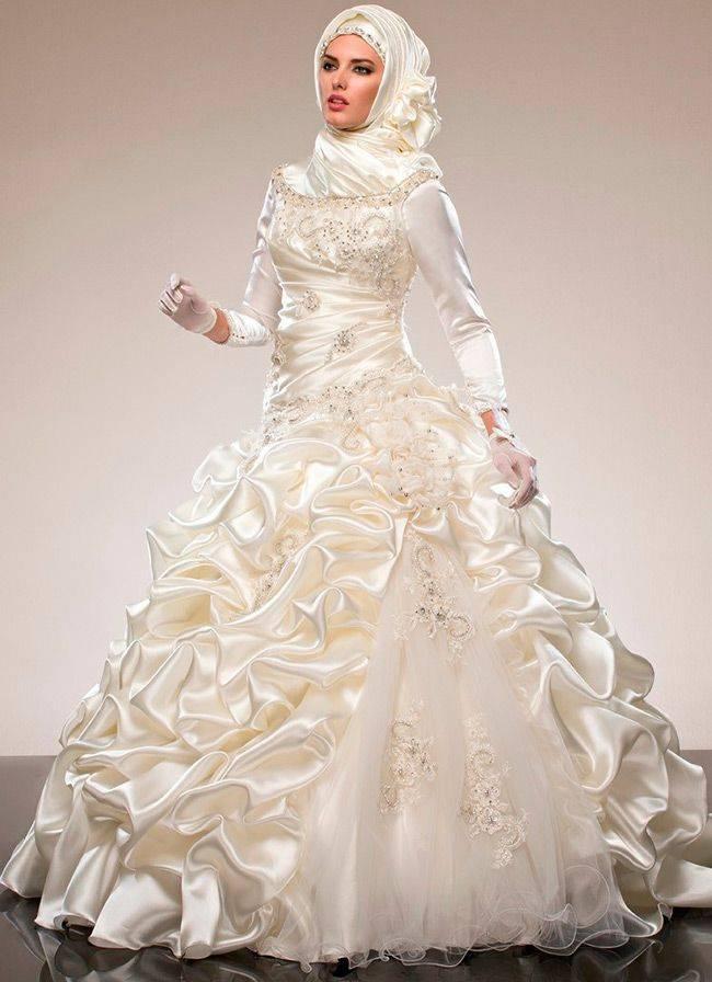 Мусульманские свадебные платья   модные  платья