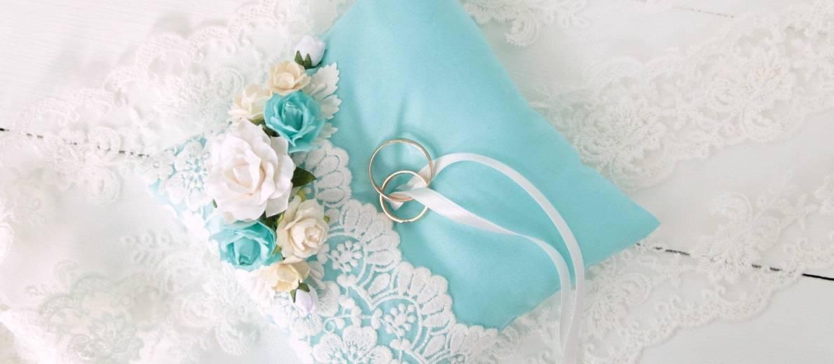 Как сшить свадебную подушечку для колец