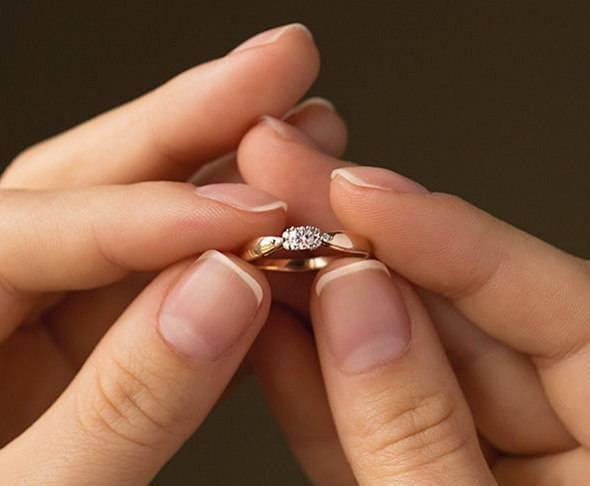 На каком пальце носят помолвочное кольцо? помолвочные кольца: фото