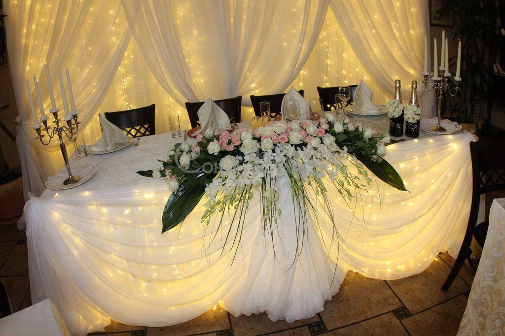 Идеи для украшения банкетного зала на свадьбу