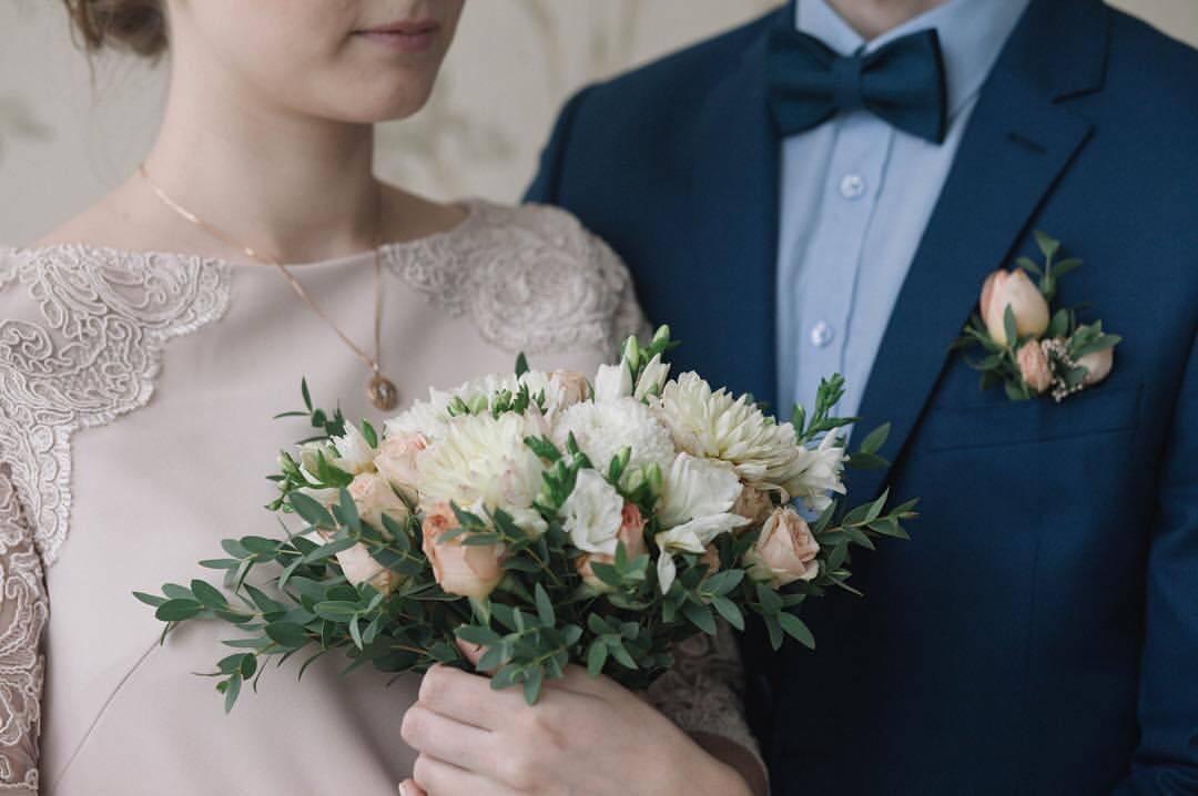 Букет невесты в нежных тонах