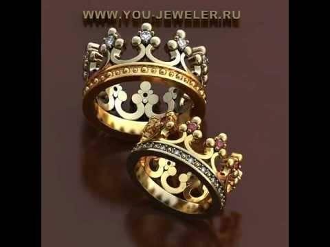 Кольца в виде короны - как носить золотые и серербрянные кольца-короны и на каком пальце?