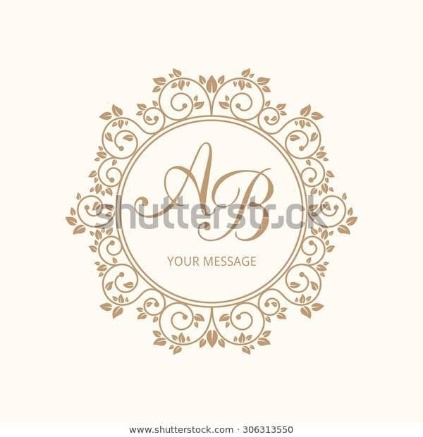 Монограмма на свадьбу: советы и идеи