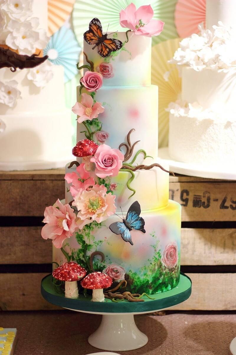 Кремовые свадебные торты фото