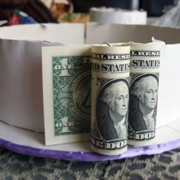 Делаем торт из денег своими руками