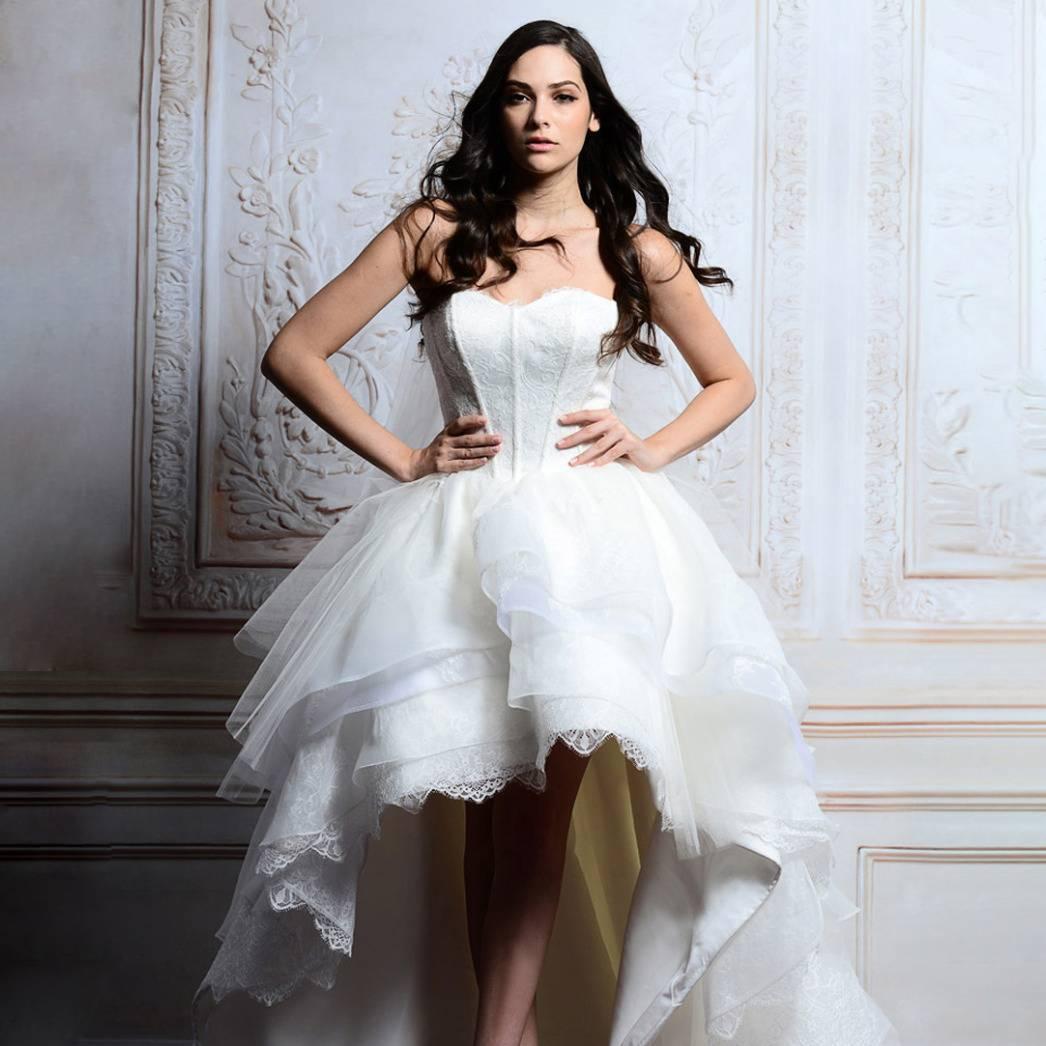 Асимметричные свадебные платья