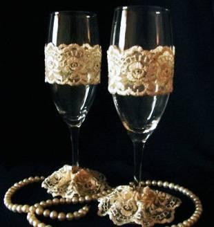 Бокалы на свадьбу своими руками.11 способов декора.