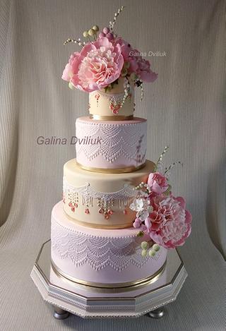 Свадебный торт  белый с красными розами - запись пользователя тигра-львовна (tanay64) в сообществе кондитерская в категории торты свадебные - babyblog.ru
