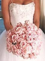 Свадебный букет невесты в синем цвете