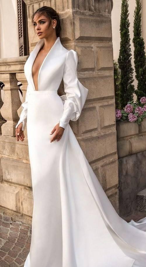 Фасоны свадебных платьев: русалка, рыбка, свадебные костюмы и комбинезоны