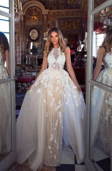 Свадебное платье-трансформер 2019 (56 фото) — с отстегивающейся юбкой, короткое, кружевное
