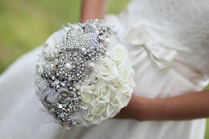 Свадебный букет невесты из брошей мк | страна мастеров