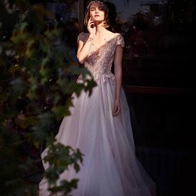 Голубое свадебное платье (фото)