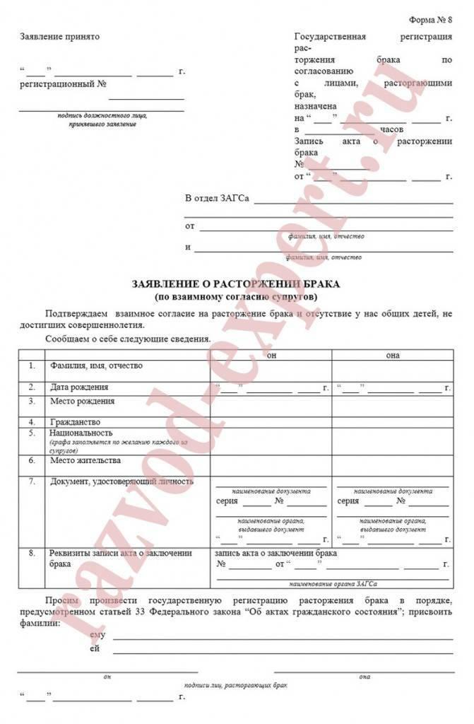 Сумма госпошлины за развод через суд в 2020 году