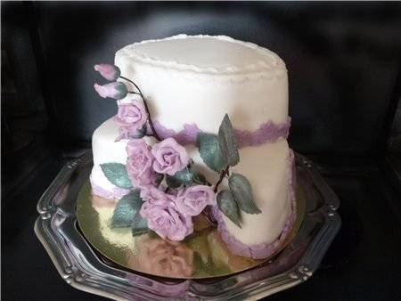 Фиолетовый свадебный торт (38 фото): кондитерское изделие на свадьбу в сиреневом цвете