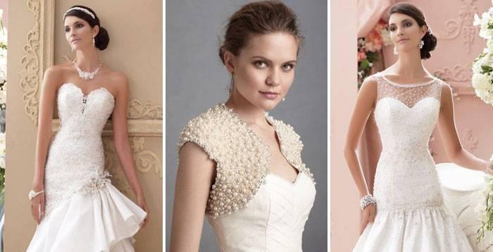 Эффектные атласные свадебные платья – критерии выбора разных моделей