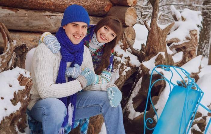 Съемка зимней свадебной фотосессии: декор, одежда и идеи