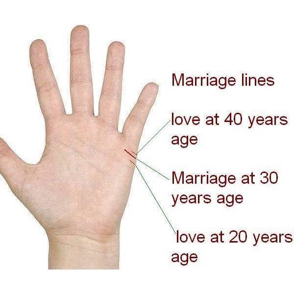 Значение одной из интереснейших линий на ладонях – любви (брака) по хиромантии
