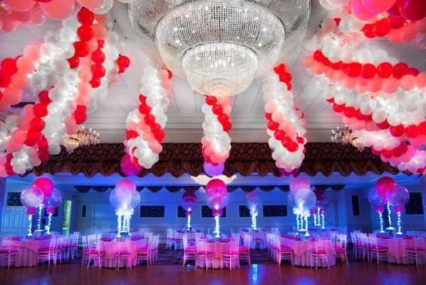 Оформление свадьбы шарами: зала для банкета, арки, фото и видео рекомендации
