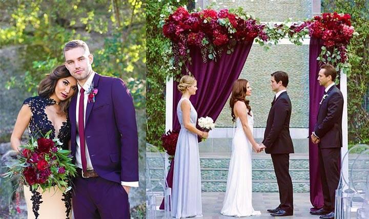 Идеи для создания безупречной свадьбы в бордовом цвете
