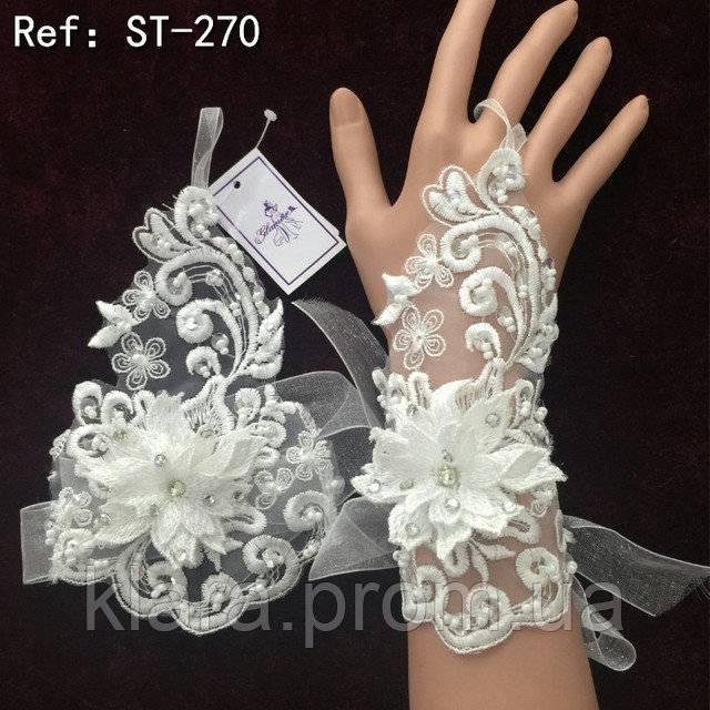 Свадебные перчатки для невесты (фото)