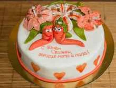 Идеи украшения торта на золотую и серебряную свадьбу