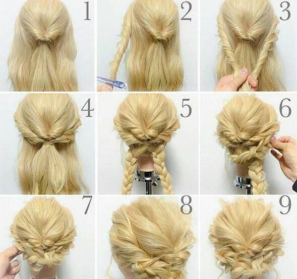 Прически на средние волосы: фото, видео, мастер-классы