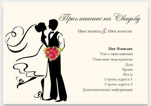 Приглашение на свадьбу в электронном виде и его особенности