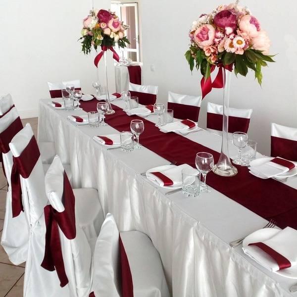 Бордовая свадьба: образы невесты и жениха, подружек невесты и бояр