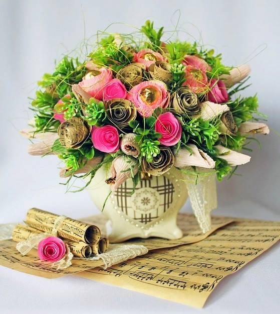 Как сделать букет из цветов самому. составление букетов из живых цветов: правила. букеты из цветов: мастер класс. как сделать букет из лилий