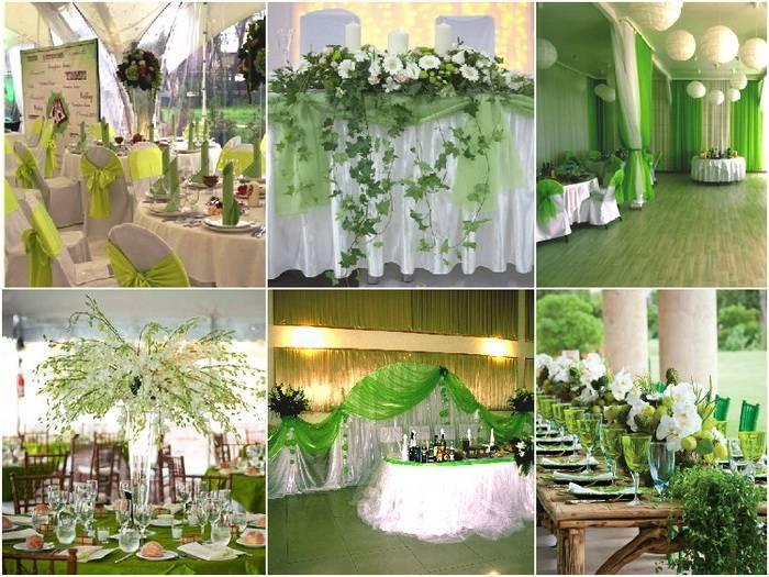Свадьба в изумрудном цвете  торт, платье невесты, пригласительные, бокалы, букет