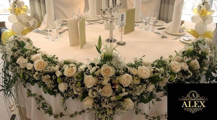 Варианты украшения зала на свадьбу своими руками