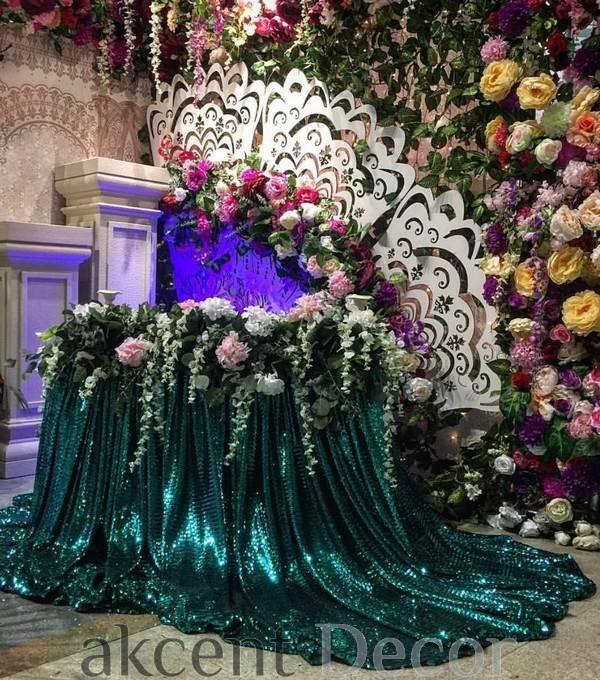 Оформление банкетного зала на свадьбу