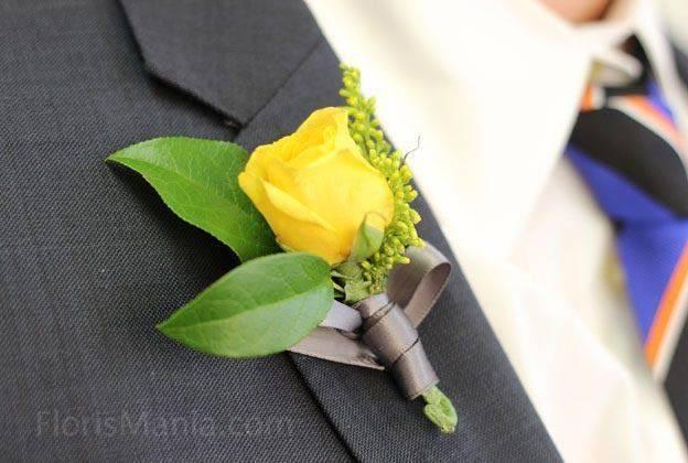 Бутоньерка для жениха своими руками - 5 оригинальных идей