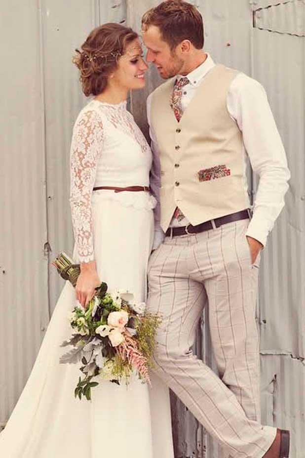 Стильная и трогательная романтика свадьбы в стиле эко