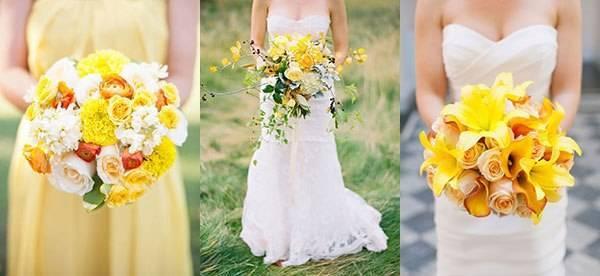 Виды свадебных букетов