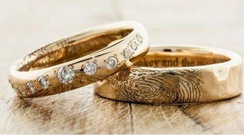 Красивые обручальные кольца в 2014 году: оригинальный выбор