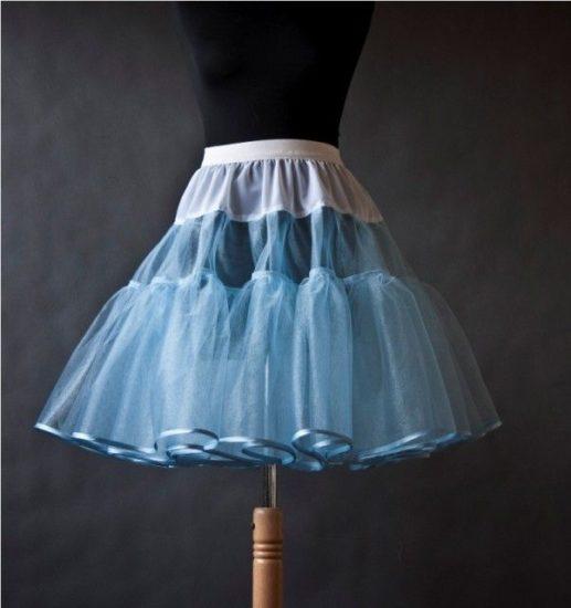 Как сшить подъюбник: пышный подъюбник с кольцами, из фатина или сетки, для юбки-солнце и стиляг