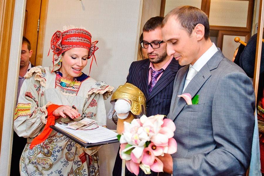 Выкуп невесты в стиле строительства