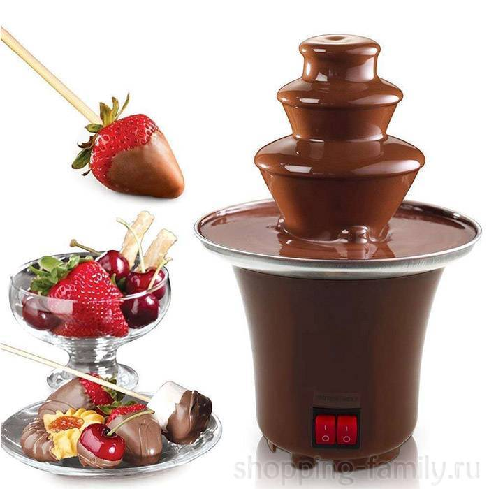 Шоколадный фонтан – что это такое, как выглядит и работает, особенности разных видов