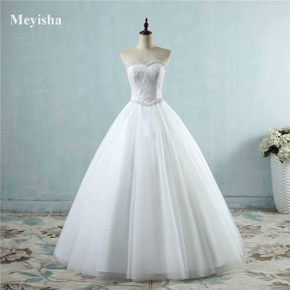 Свадебное платье с корсетом из жемчуга