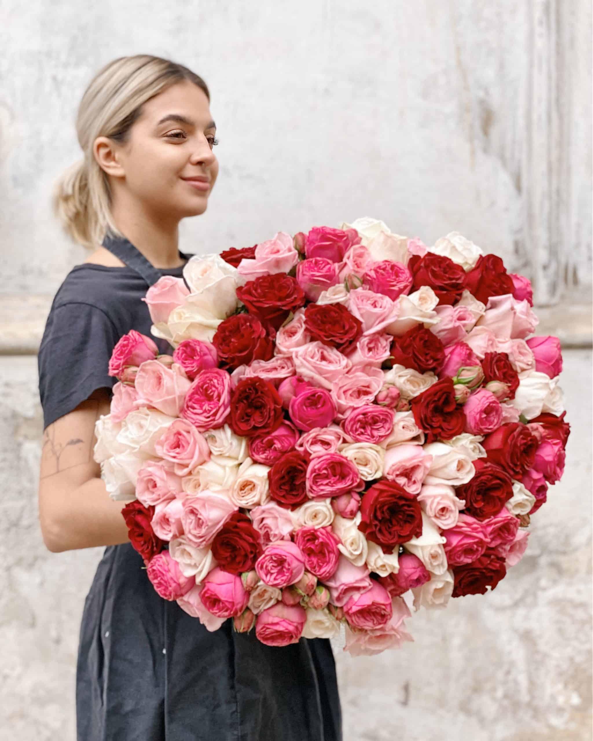 Букет невесты из калл и роз