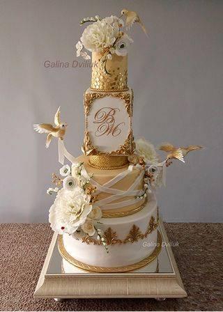 Свадебные торты в красном цвете (фото)