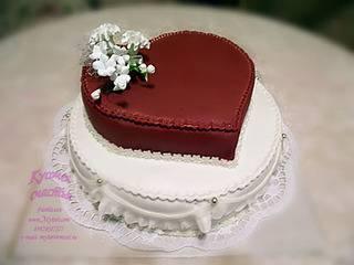 Сиреневый свадебный торт