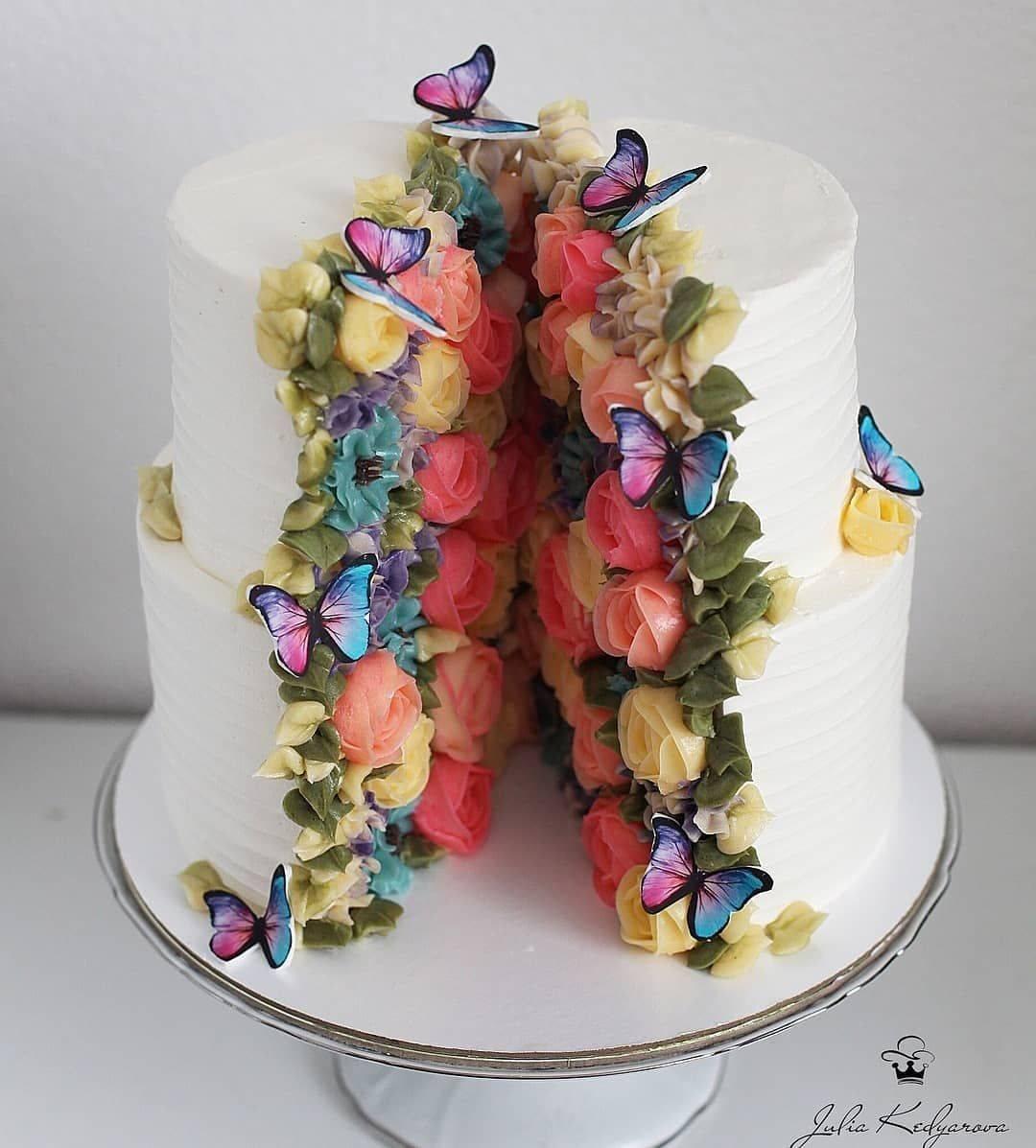 Свадебный торт в стиле прованс