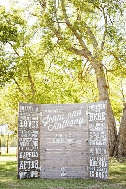 Фотозона на свадьбу: идеи и оформление своими руками